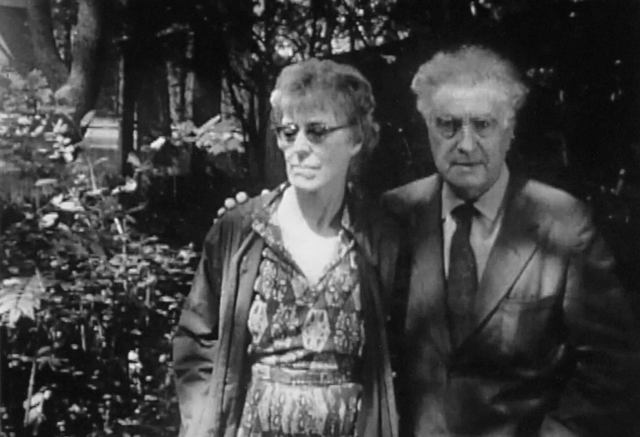 Louise and Edgard Varèse at home in the MacDougal–Sullivan Gardens, New York City.