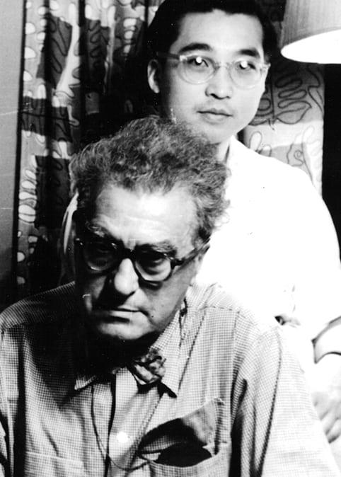 Edgard Varèse and Chou Wen-chung, New York City.