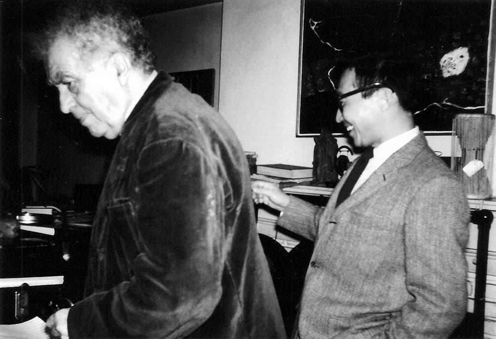 Chou Wen-chung and Edgard Varèse, New York City.