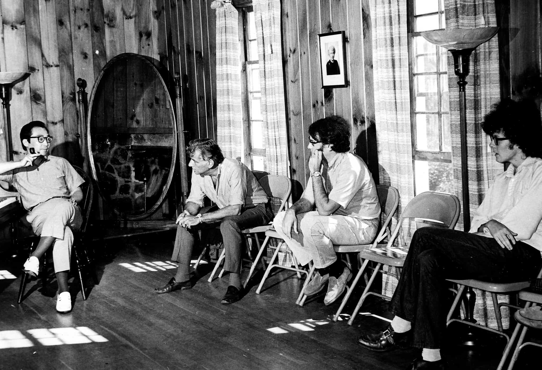 Chou Wen-chung, Leonard Bernstein and Students at Tanglewood, Lenox, Massachusetts.