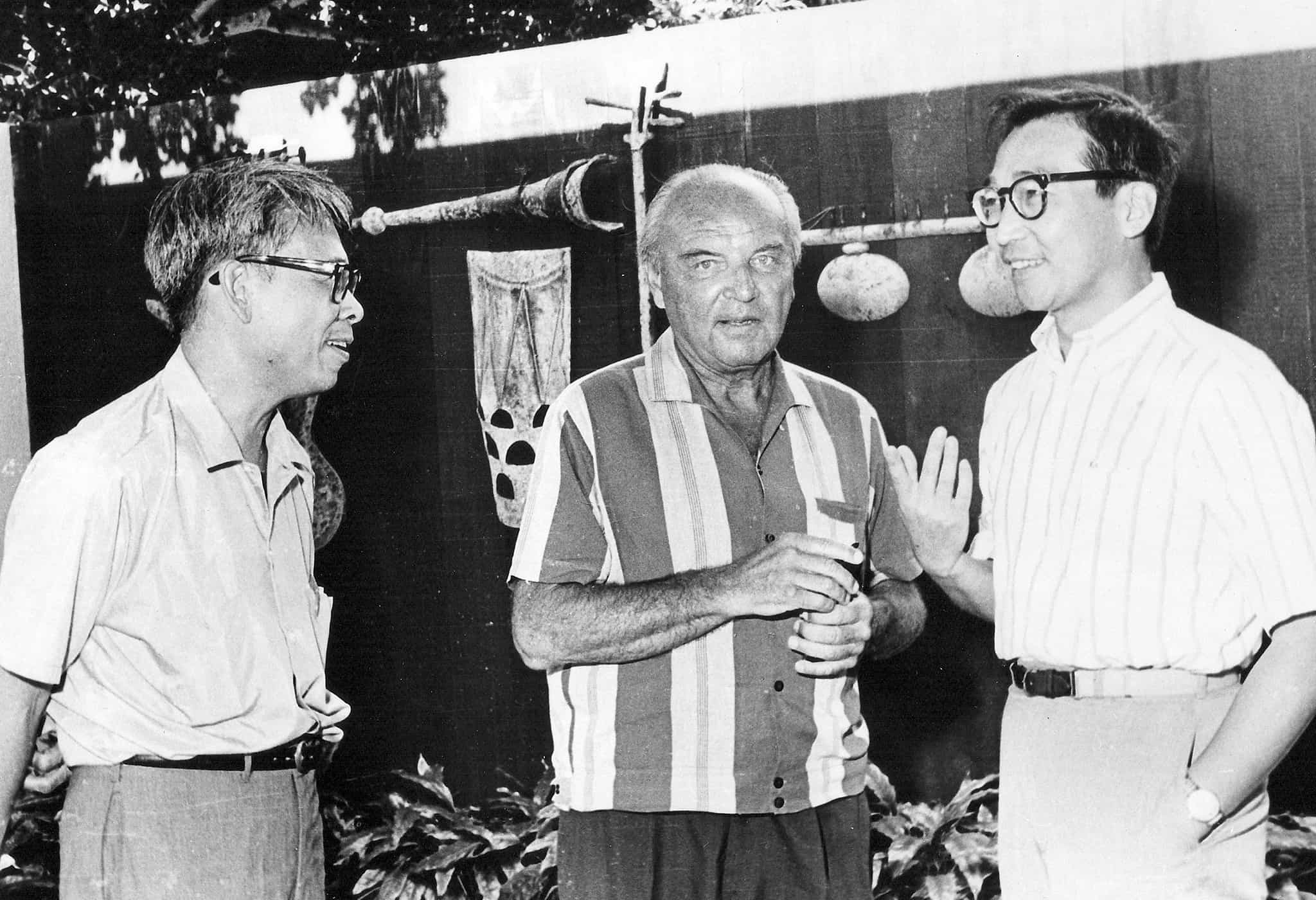 José Maceda, Ernst Krenek and Chou Wen-Chung (far right).