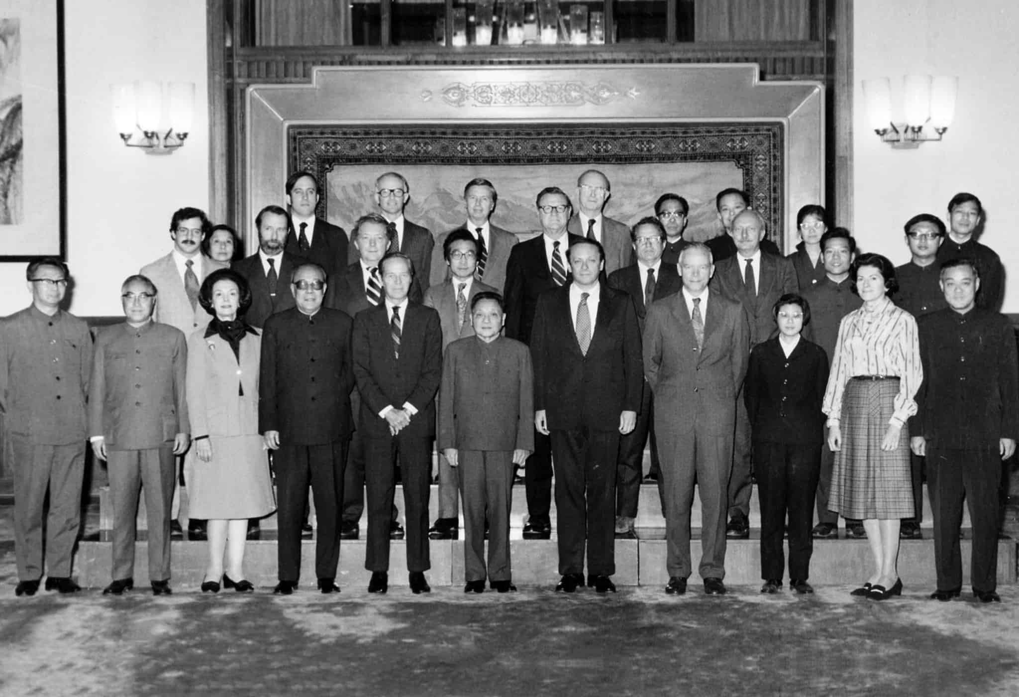 Deng Xiaoping with Chou Wen-chung and members of the National Committee on U.S.-China Relations.