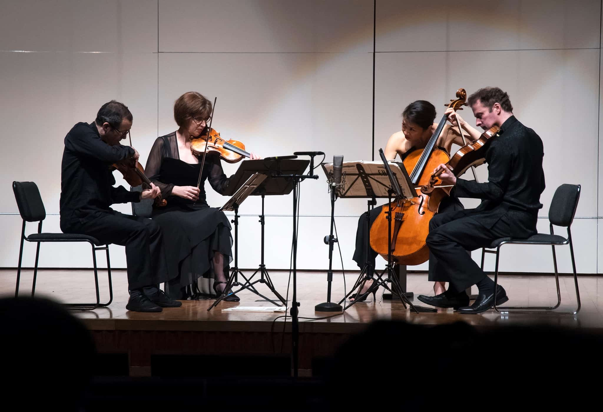 Brentano String Quartet performing at Chou Tribute Concert.